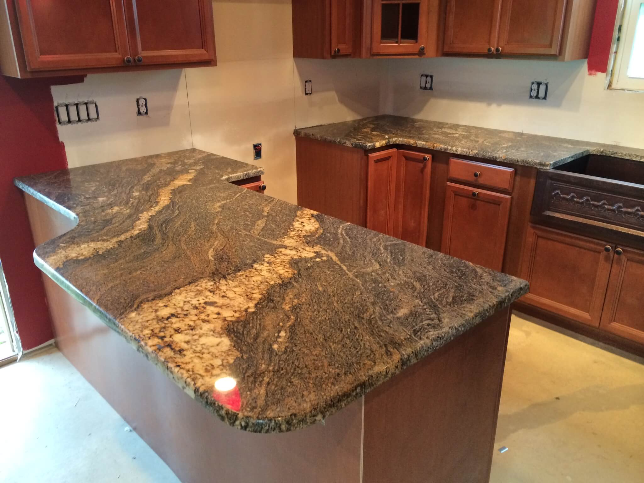 Granite Kitchen Countertops : Sq ft granite countertops cleveland kitchen quartz